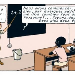 """""""Tintin au Congo"""" : En 1946, la 9eme case de la p. 36/version en couleurs (c) Herge-Moulinsart 2019"""