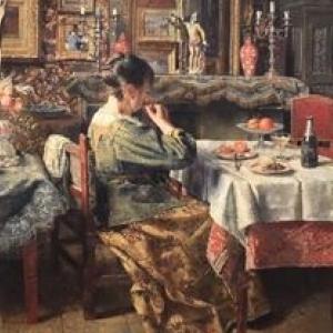 """Le Repas"" (1885) (c) Henri De Braekeleer"