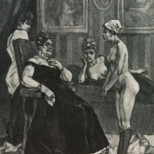 """""""Le Conseil de Revision/Felicien Rops (c) Musee Felicien Rops"""