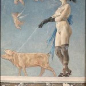 """""""Pornocrates""""/Felicien Rops/1878/75x48 cm"""