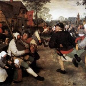 """""""La Danse des Paysans"""" (1568) (c) Pieter Breughel/""""Musee d Histoire de l Art"""" (Vienne)"""