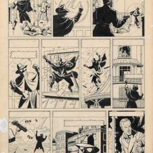 """""""La Marque jaune"""" (pl. 26/1953-1954) (c) Edgar P. Jacobs (c) Ville de Liege-Sabam 2018"""