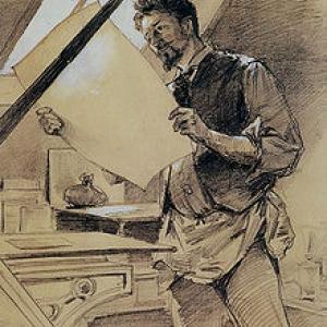Portrait de F. Rops (Paul Mathey, 1888)