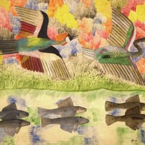 """Peinture de l artiste congolais (c) Pilipili Mulongoy/""""Musee africain"""""""