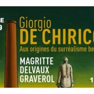 """Giorgio de Chirico, aux Origines du Surréalisme"", au ""BAM"", à Mons, jusqu'au 02 Juin"
