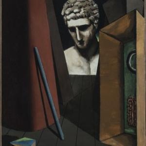 """""""Melancolie hermetique"""" (Giorgio de Chirico/1919/62 x 49,5 cm) (c) """"SABAM Belgium 2019"""""""
