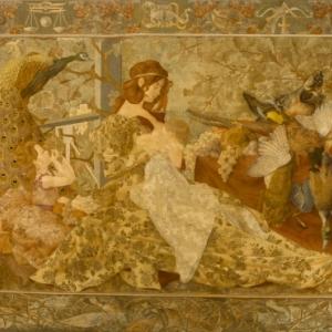 """""""L'Automne"""", Helene Du Menil & Isidore De Rudder, 1905"""