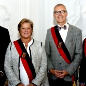 Les Deputes provinciaux, Amaury Alexandre, Genevieve Lazaron, Jean-Marc Van Espen et Richard Fournaux (c) Province de Namur