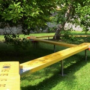 """""""Mesurer"""", dans le jardin du """"Pole culturel des Bateliers"""" (c) DR"""