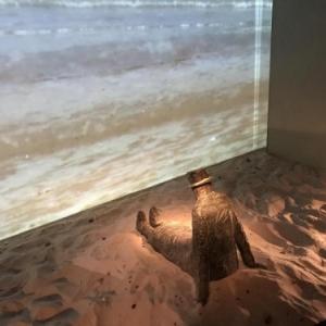 """Une sculpture d un autre reveur, (c) Jean-Michel Folon/""""Fondation Folon"""", a la sortie de l exposition"""