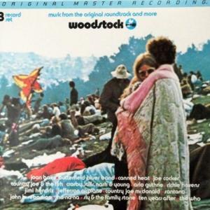 """Pochette des trois premiers 33 t. de """"Woodstock"""" (1970)"""
