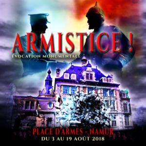 « Armistice ! », Spectacle Son et Lumière, à Namur, jusqu'au 19 Août