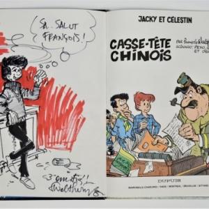 "Un album dedicace de ""Jacky et Celestin"" (C) Walthery/Ed. ""Dupuis"""