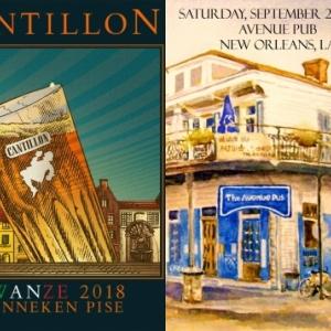 """Publicite pour le """"Zwanze Day"""" 2018, dans l """"Avenue Pub"""", a New Orleans, en Louisiane"""
