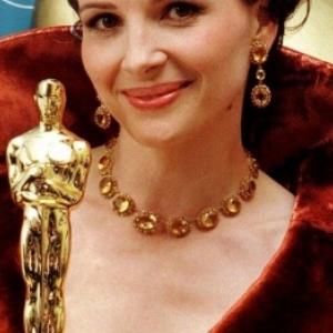 """Juliette Binoche, laureate d un """"Oscar"""", en 1997, pour """"Le Patient anglais"""""""