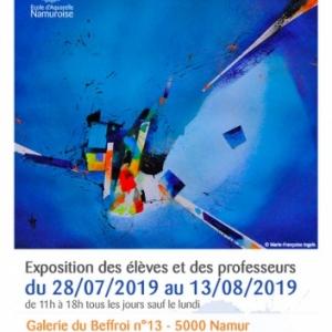 """Aquarelles de l' """"ENAM"""", à la """"Galerie du Beffroi"""", à Namur, jusqu'au I3 Août"""
