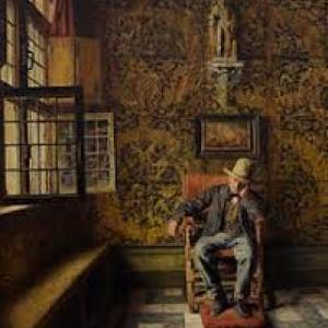"""""""L Homme a la Chaise""""/""""Salle de la Maison hydraulique"""" (1876) (c) Henri De Braekeleer"""