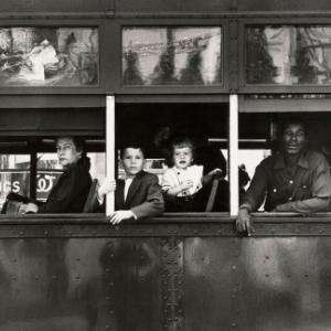"""Trolleybus""/New Orleans (c) Robert Frank/""MacGill Gallery""/""Maison Europeenne de la Photographie"""
