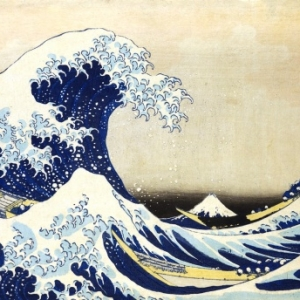 """Sous la Vague, au Large de Kanagawa"" (K. Hokusai)"