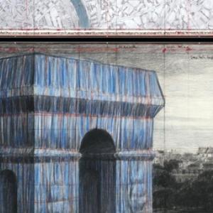 """L Arc de Triomphe empaquette"" (c) ""Christo""/""Guy Pieters Gallery"""