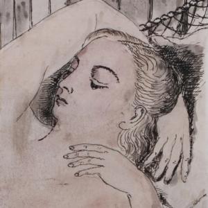"""Nu assoupi"" (Paul Delvaux) (c) ""NF Art Gallery"""