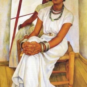 "Oeuvre de Diego Rivera, exposee au ""Musee de l Hospice Comtesse"""