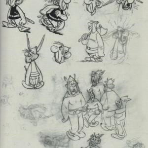 """A une epoque ou """"Obelix"""" n avait pas encore mange beaucoup de sangliers (c) Albert Uderzo"""