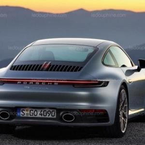 """La nouvelle """"Porsche 911"""" (c) """"Le Dauphine Libere"""""""
