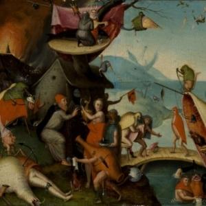 """""""La Tentation de St.Antoine""""/""""Suiveur"""" de J. Bosch/16eme siecle/(c) Province de Namur"""