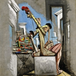 """""""Le Confiseur de Pericles"""" (Giorgio de Chirico/1925/101 x 82 cm) (c) """"SABAM Belgium 2019"""""""