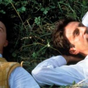 """Daniel Auteuil  et Pascal Duquenne, primes a Cannes, pour """"Le Huitieme Jour"""" (Jaco Van Dormael)"""