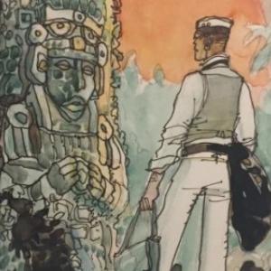 "En voyage, avec ""Corto Maltese"" (c) Hugo Pratt/""Cong"". S.A."