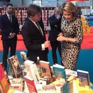 La Reine Mathilde et le Ministre neerlandophone de la culture Sven Gatz