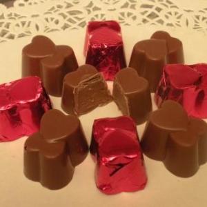pralines coeur chocolat au lait fourre praline croquant