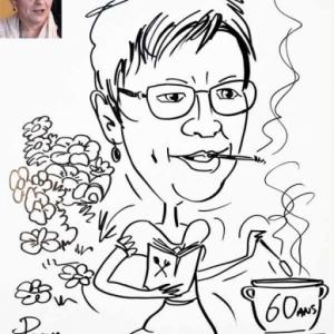 Animation caricature pour les 60 ans