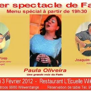 Concert de Fado avec Paula Oliveira au restaurant de Wilwerdange