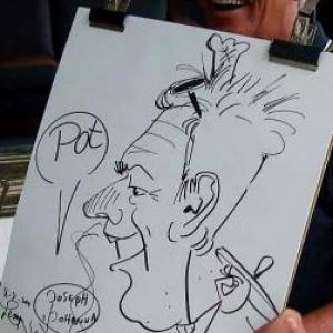 Karikaturen Pot interieur Axel-8328