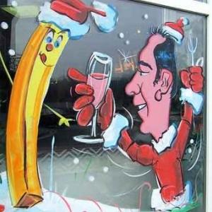 Peinture sur vitrine pour Noel-7534