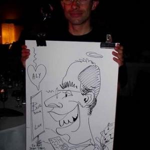 Animation caricatures pour les 50 ans de Jean-Paul au Espaces reunions de Leudelange
