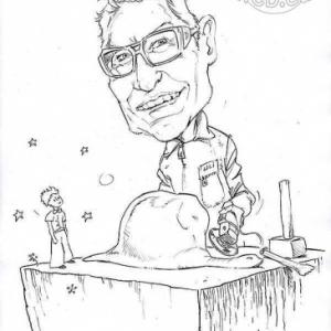 caricature de Uli Schwander par Olivier Claudon