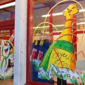 Peinture sur vitrine pour Noel-7304