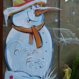 Peinture sur vitrine pour Noel-7368