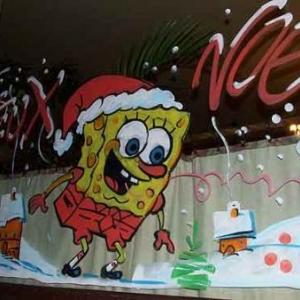 Frasne - Peinture sur vitrine pour Noel-7435