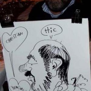 Caricature au Frenchie Restaurant de Luxembourg-7053