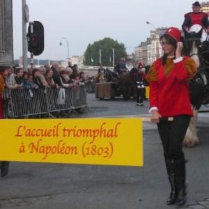 L'accueil triomphal a Napoleon