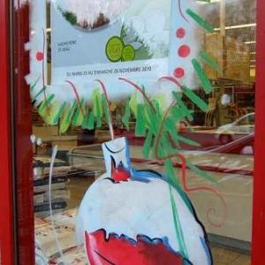 Peinture sur vitrine pour Noel-7311