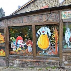 decoration vitrines automne hivers
