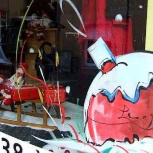 Peinture sur vitrine pour Noel-7365