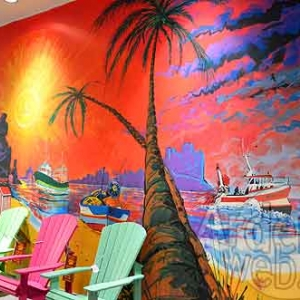 LUXEMBOURG-fresque au Knauf Center de Pommerloch -2280