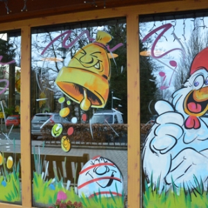 vitrine de Paques